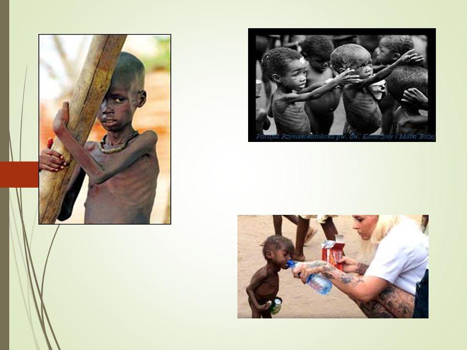 W Afryce z głodu co 7 sekund umiera jedno dziecko, każdego dnia umiera ich 18 tysięcy, a w ciągu roku 50 milionów.