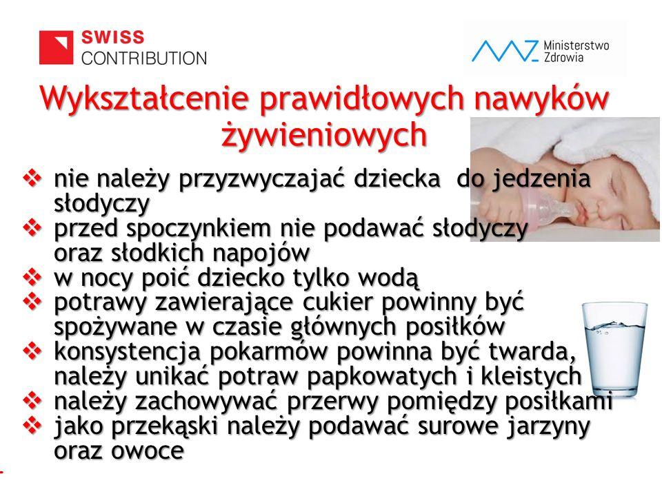 www.zebymalegodziecka.pl  nie należy przyzwyczajać dziecka do jedzenia słodyczy  przed spoczynkiem nie podawać słodyczy oraz słodkich napojów  w no