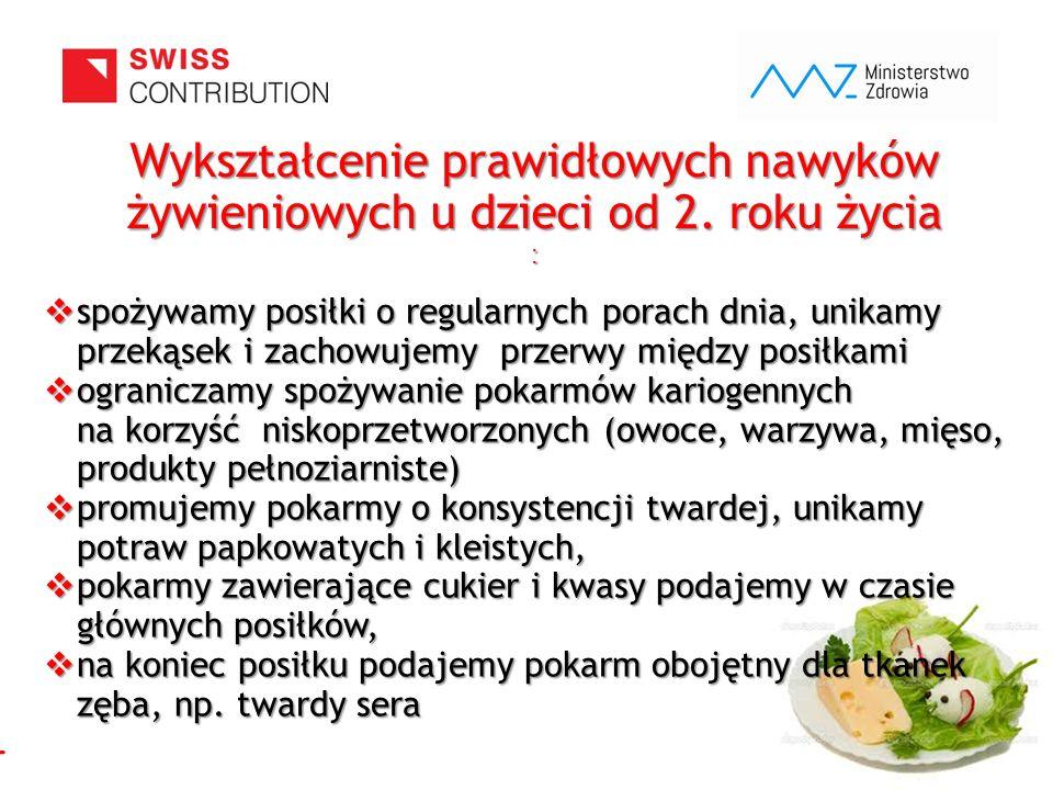 www.zebymalegodziecka.pl Wykształcenie prawidłowych nawyków żywieniowych u dzieci od 2. roku życia :  spożywamy posiłki o regularnych porach dnia, un