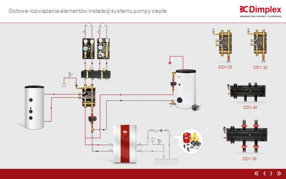 Gotowe rozwiązania elementów instalacji systemu pompy ciepła ›»‹« DDV 25 DDV 32 DDV 40 DDV 50
