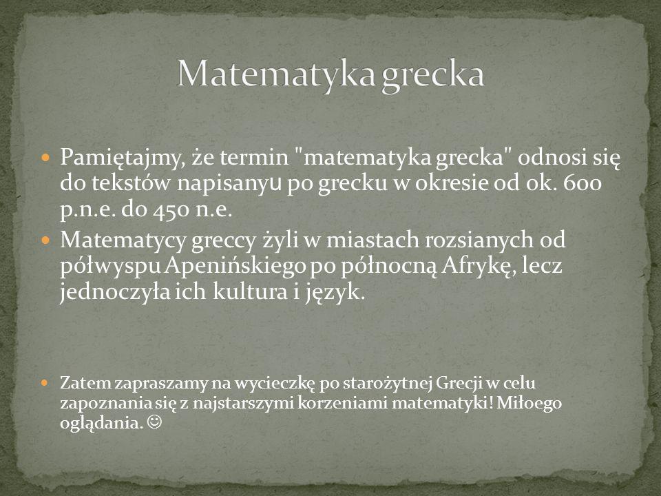 Tajemnice matematyki starożytnej