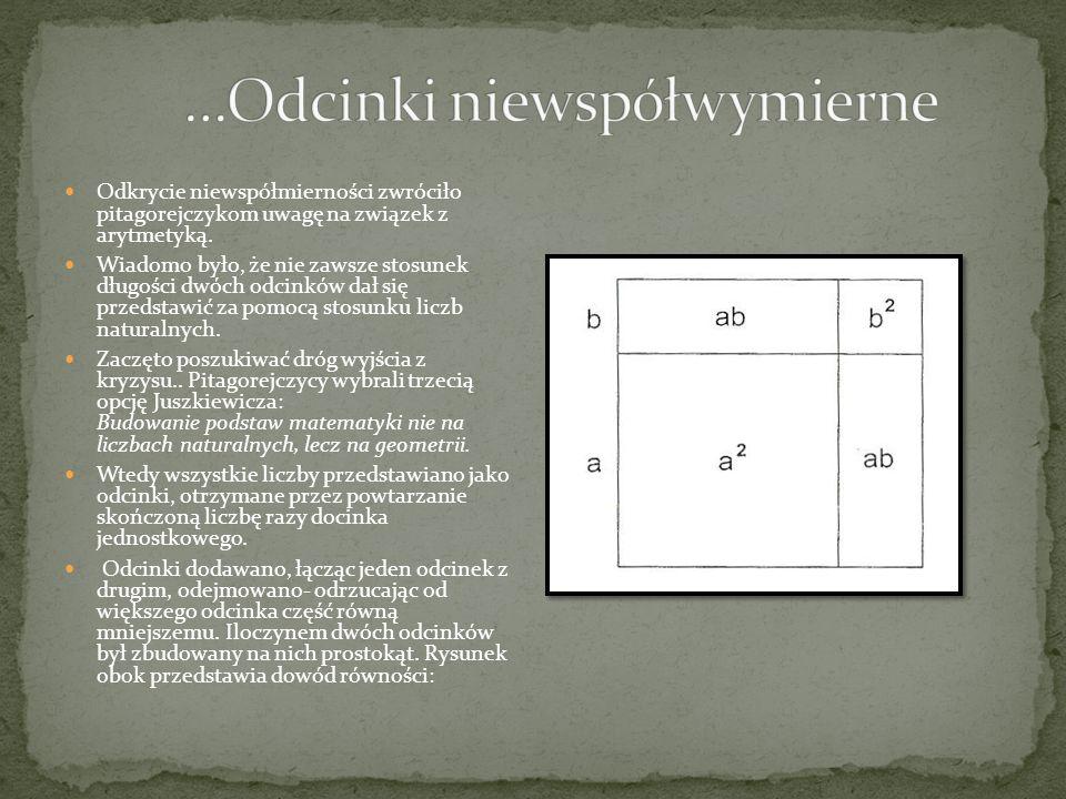 System pitagorejczyków był pierwszym matematycznym modelem świata.