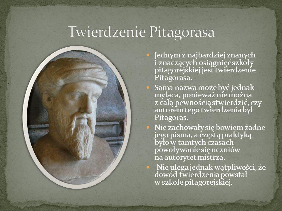 Wiedzę o geometrii pitagorejczyków czerpiemy bowiem z relacji późniejszych twórców, m.in.