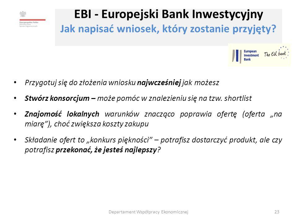 EBI - Europejski Bank Inwestycyjny Jak napisać wniosek, który zostanie przyjęty.
