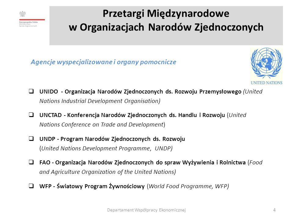 Przetargi Międzynarodowe w Organizacjach Narodów Zjednoczonych  UNIDO - Organizacja Narodów Zjednoczonych ds.