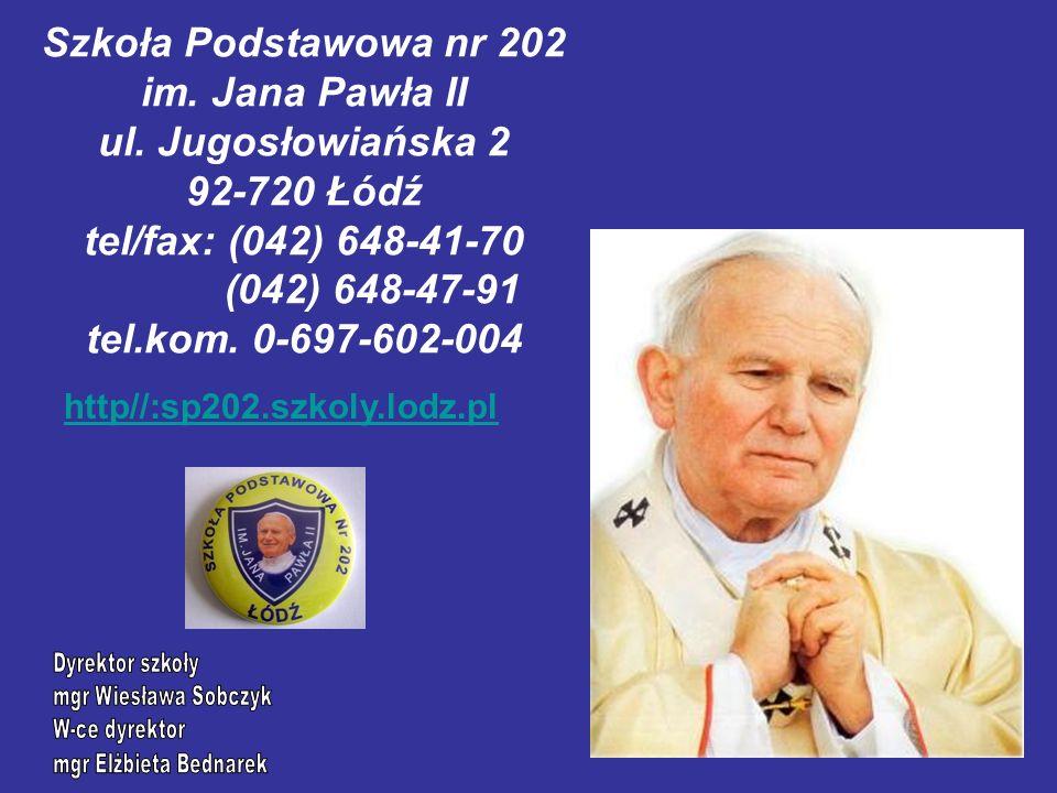 Szkoła Podstawowa nr 202 im. Jana Pawła II ul.