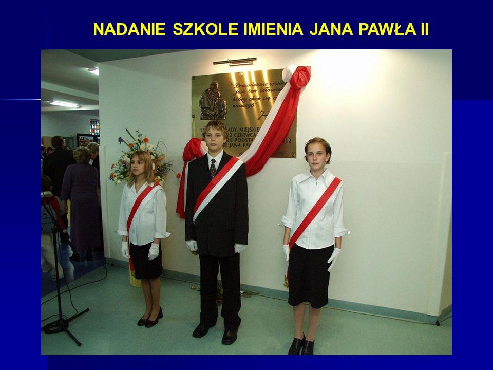 NADANIE SZKOLE IMIENIA JANA PAWŁA II