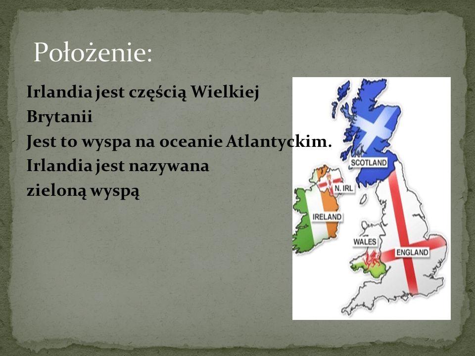 Irlandia jest częścią Wielkiej Brytanii Jest to wyspa na oceanie Atlantyckim.