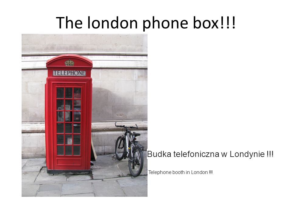 The london phone box!!! Budka telefoniczna w Londynie !!! Telephone booth in London !!!