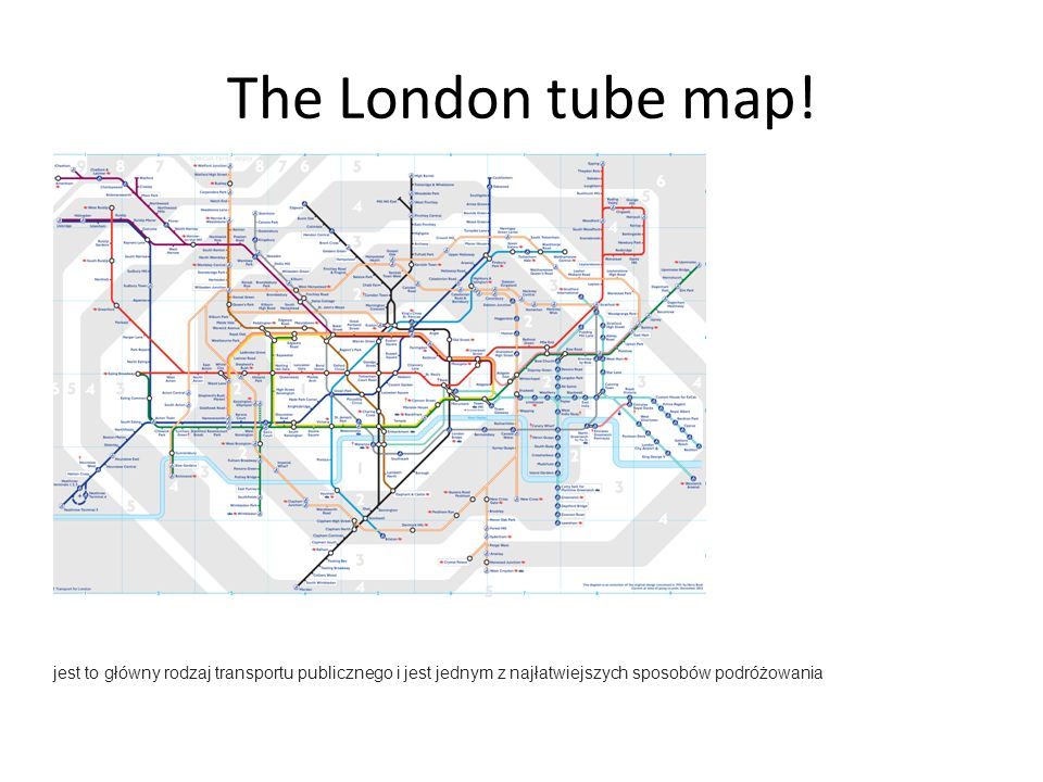 The London tube map.
