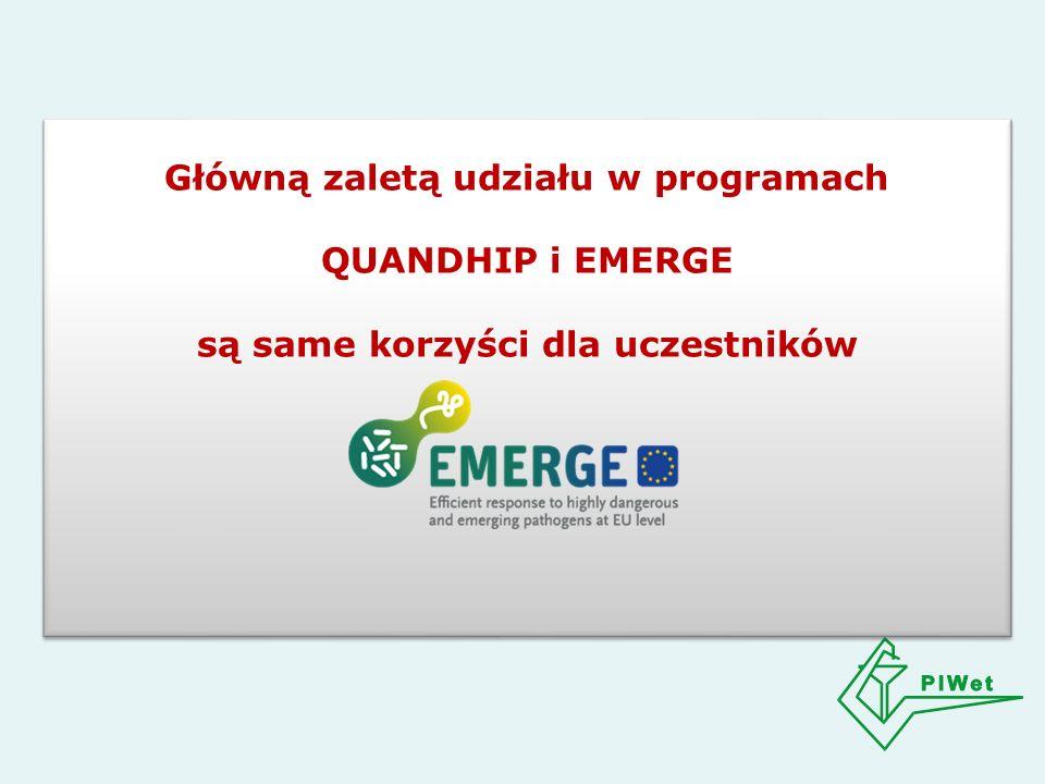 Główną zaletą udziału w programach QUANDHIP i EMERGE są same korzyści dla uczestników Główną zaletą udziału w programach QUANDHIP i EMERGE są same korzyści dla uczestników