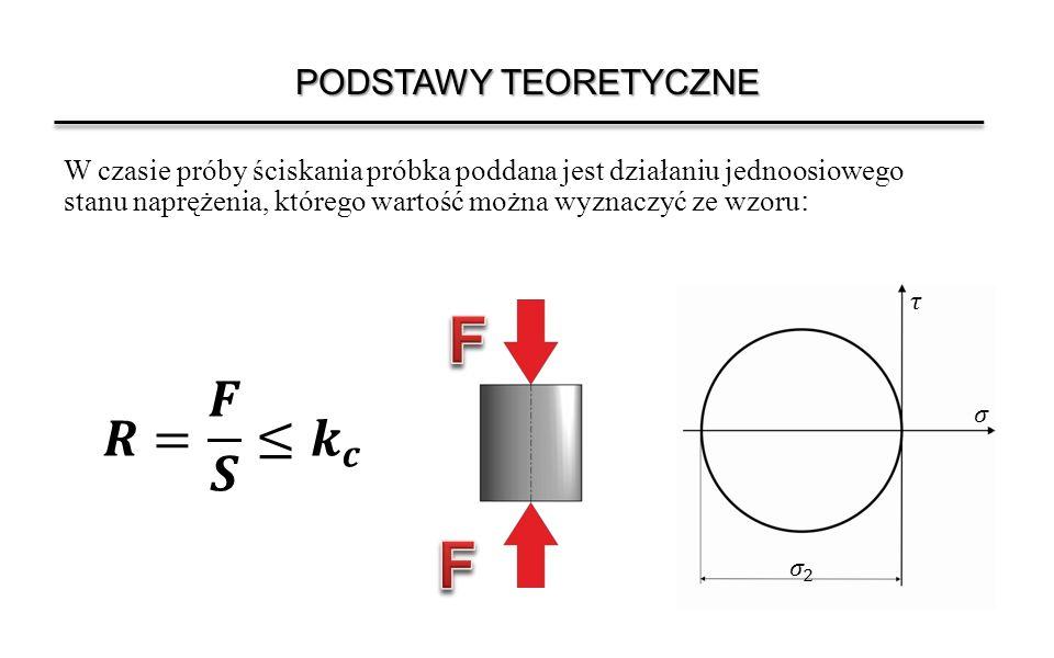 PRÓBKI DO BADAŃ Do próby stosuje się próbki o przekroju okrągłym.