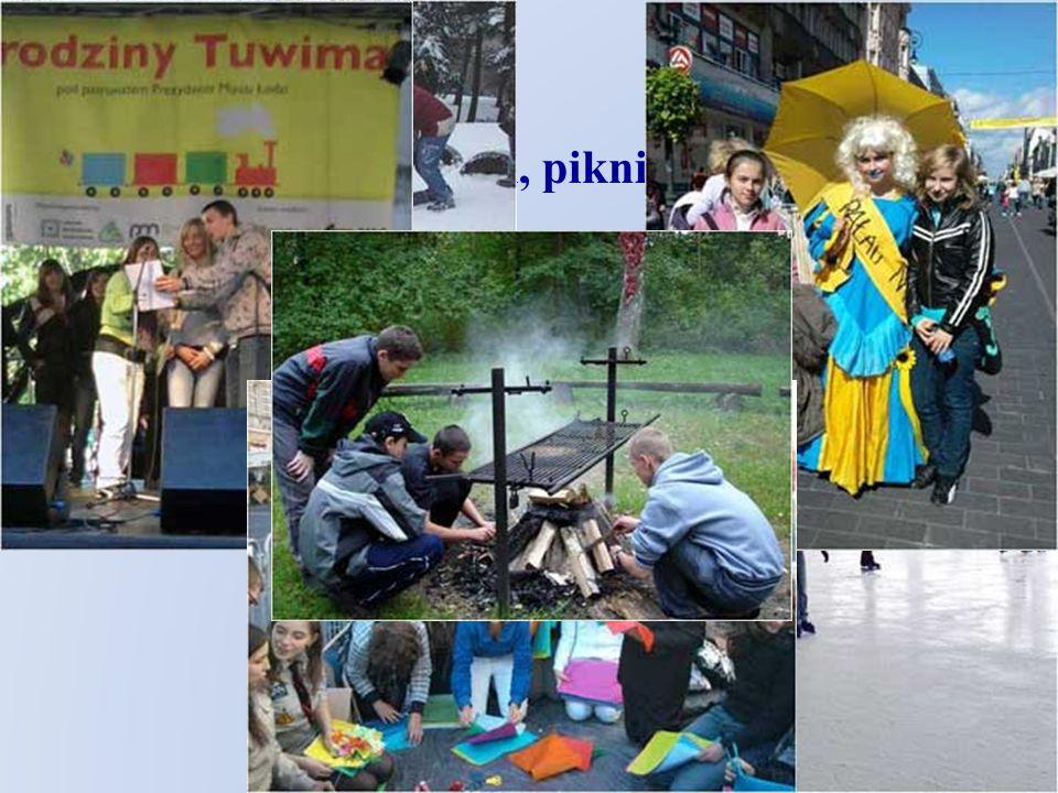 wycieczki, pikniki, zabawy i konkursy na świeżym powietrzu