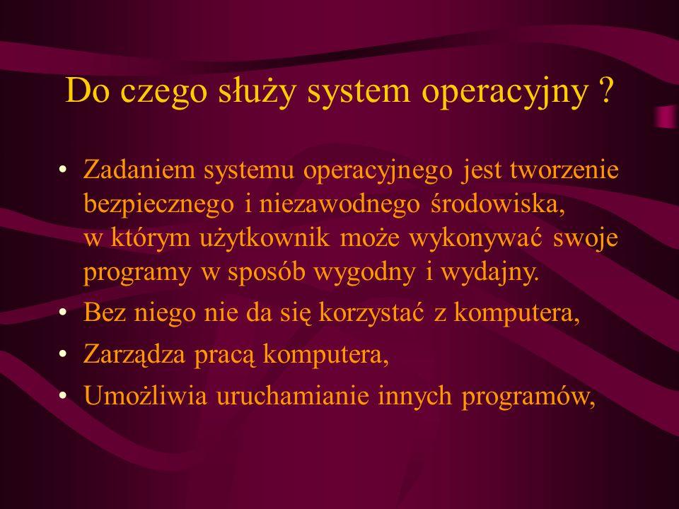 Do czego służy system operacyjny .