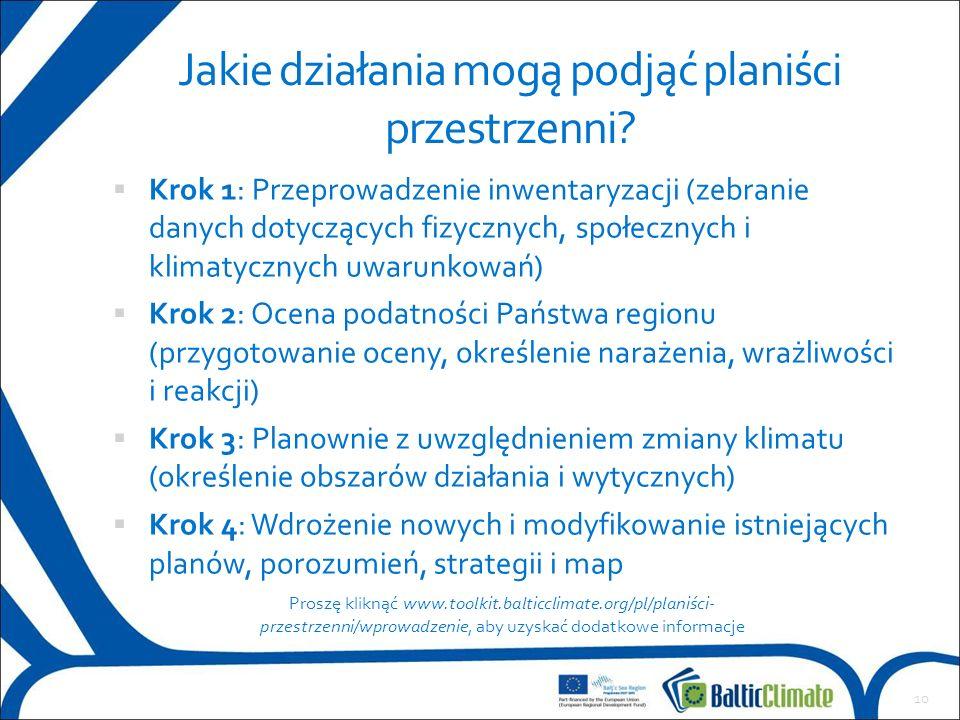 Przeprowadzenie inwentaryzacji  Krok 1: Przeprowadzenie inwentaryzacji (zebranie danych dotyczących fizycznych, społecznych i klimatycznych uwarunkow