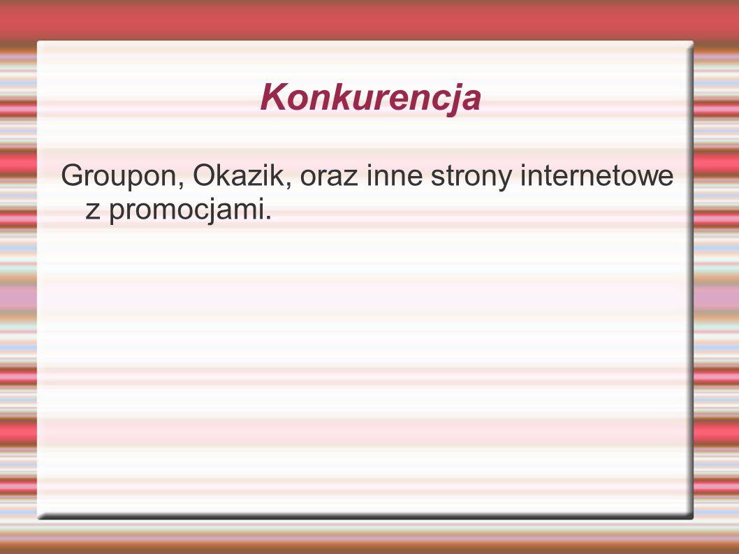 Konkurencja Groupon, Okazik, oraz inne strony internetowe z promocjami.