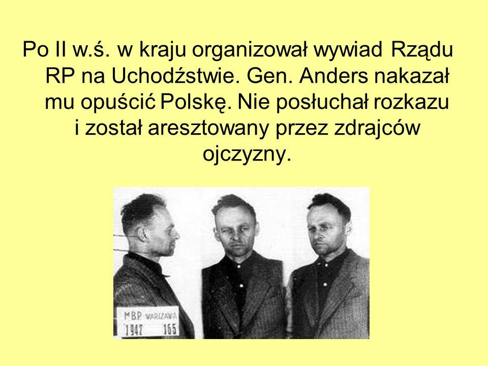 Zamordowany przez komunistów w 1948 r.