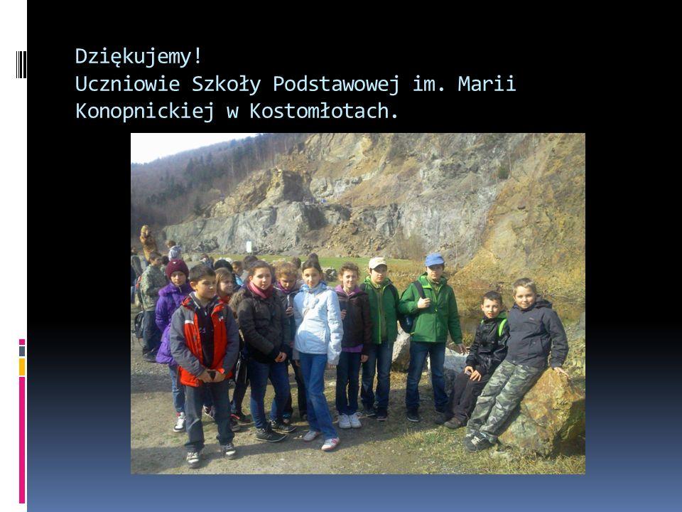 Dziękujemy! Uczniowie Szkoły Podstawowej im. Marii Konopnickiej w Kostomłotach.