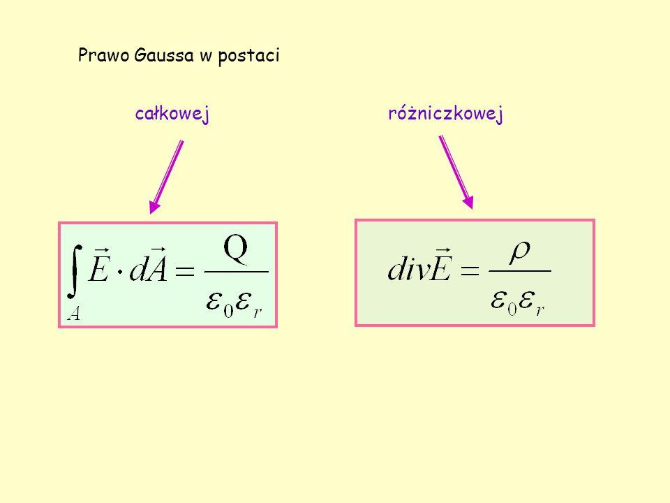 Prawo Gaussa w postaci całkowejróżniczkowej