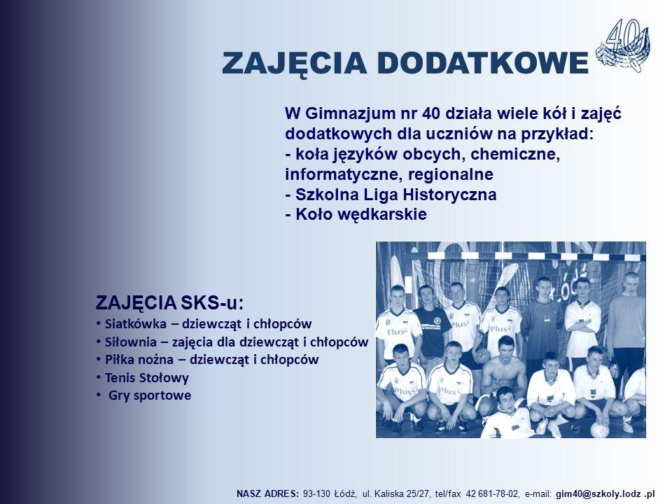ZAJĘCIA SKS-u: Siatkówka – dziewcząt i chłopców Siłownia – zajęcia dla dziewcząt i chłopców Piłka nożna – dziewcząt i chłopców Tenis Stołowy Gry sport