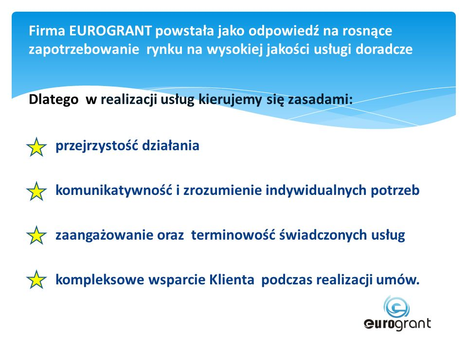 Eurogrant Sp.z o.o. ul. Krakowska 25/2 33-100 Tarnów tel.
