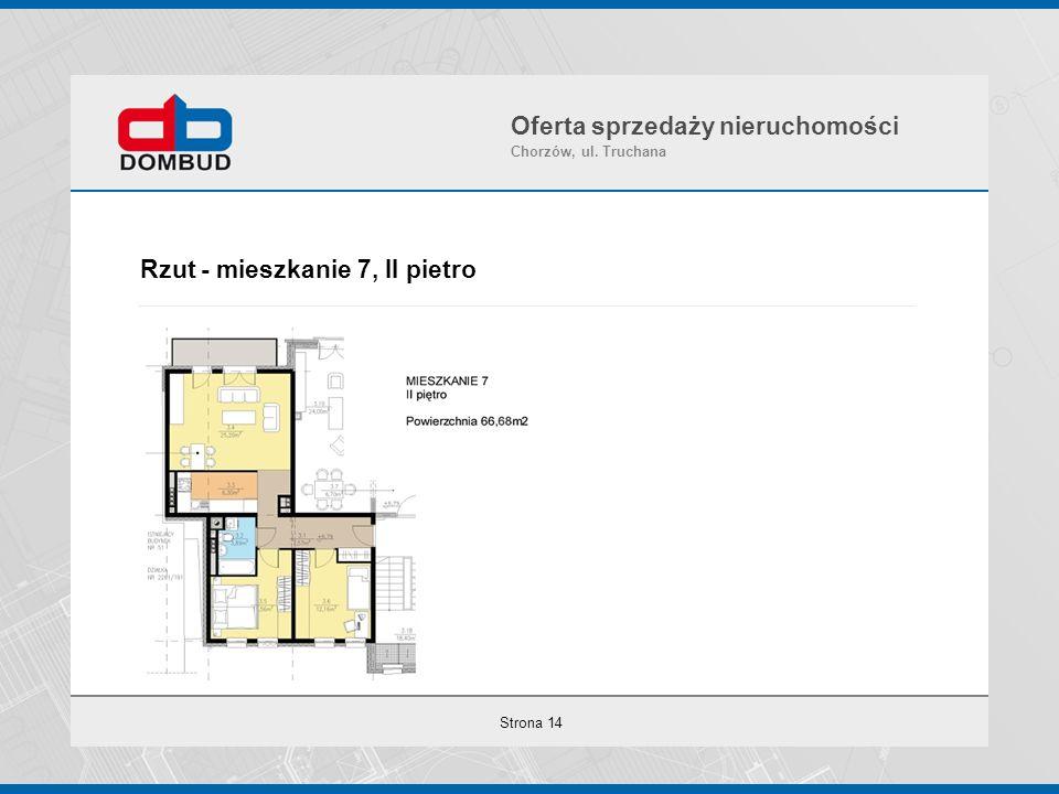 Strona 14 Rzut - mieszkanie 7, II pietro Oferta sprzedaży nieruchomości Chorzów, ul. Truchana