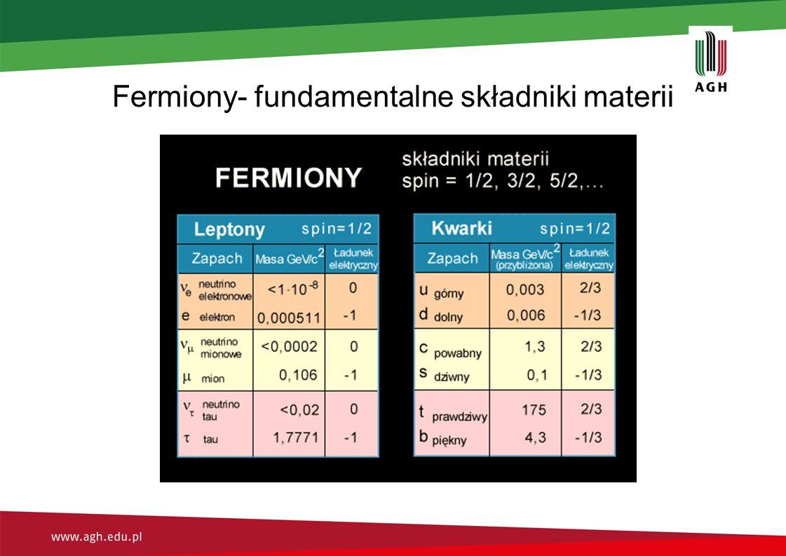 Fermiony- fundamentalne składniki materii