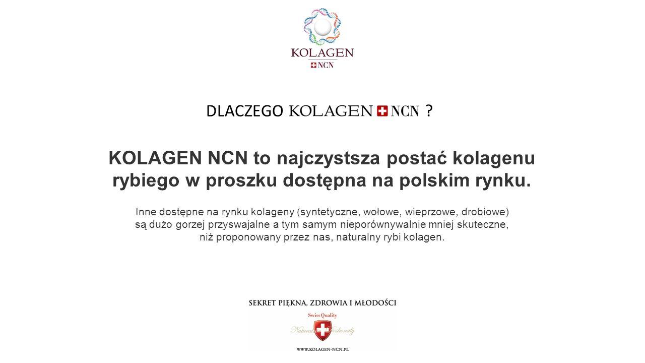 DLACZEGO KOLAGEN NCN to najczystsza postać kolagenu rybiego w proszku dostępna na polskim rynku.