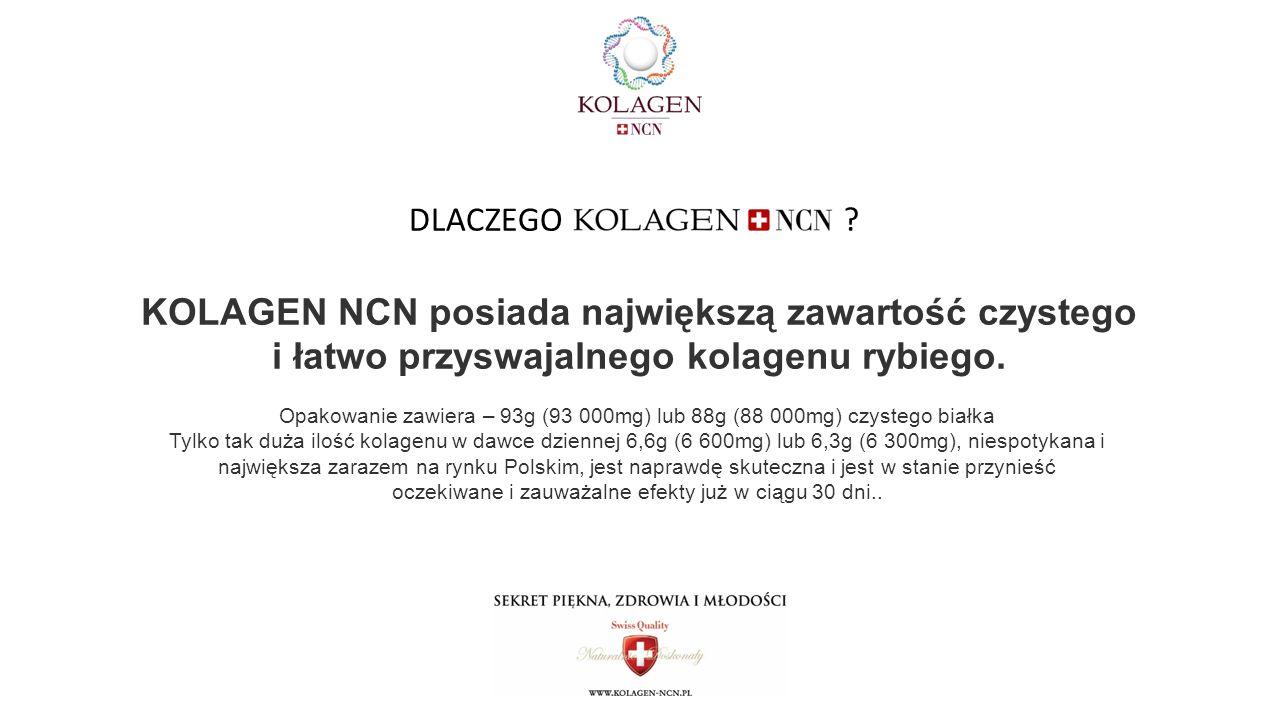 KOLAGEN NCN posiada największą zawartość czystego i łatwo przyswajalnego kolagenu rybiego.