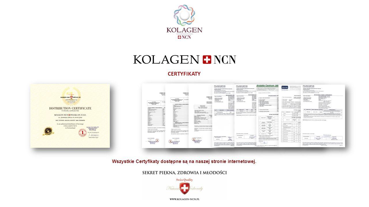 CERTYFIKATY Wszystkie Certyfikaty dostępne są na naszej stronie internetowej.