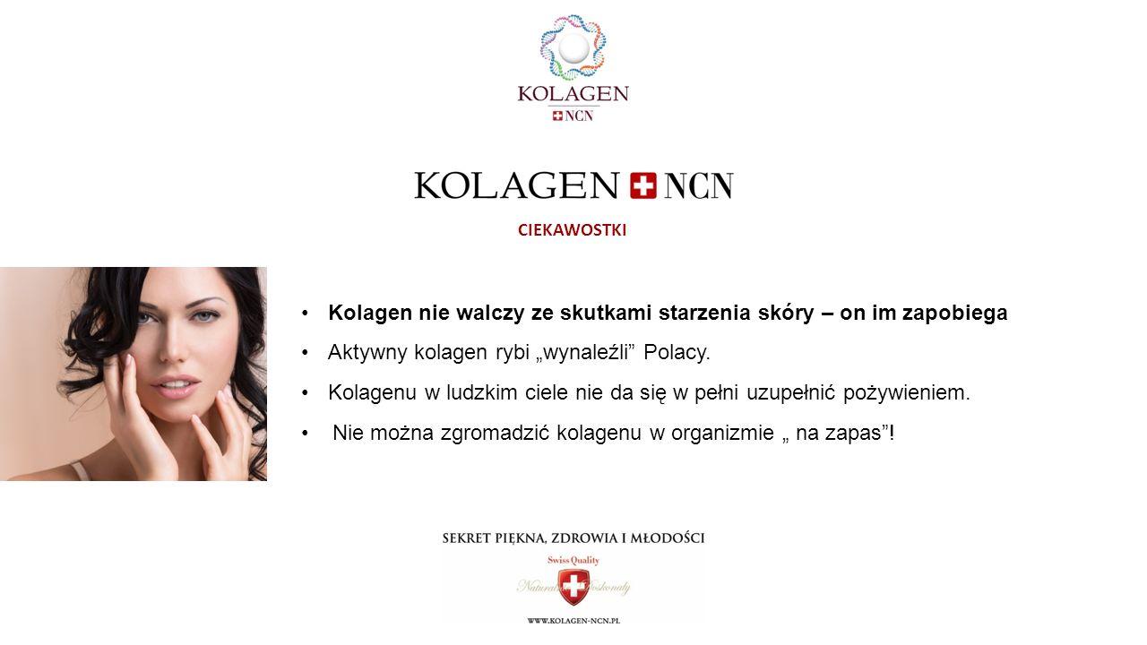 """Kolagen nie walczy ze skutkami starzenia skóry – on im zapobiega Aktywny kolagen rybi """"wynaleźli Polacy."""