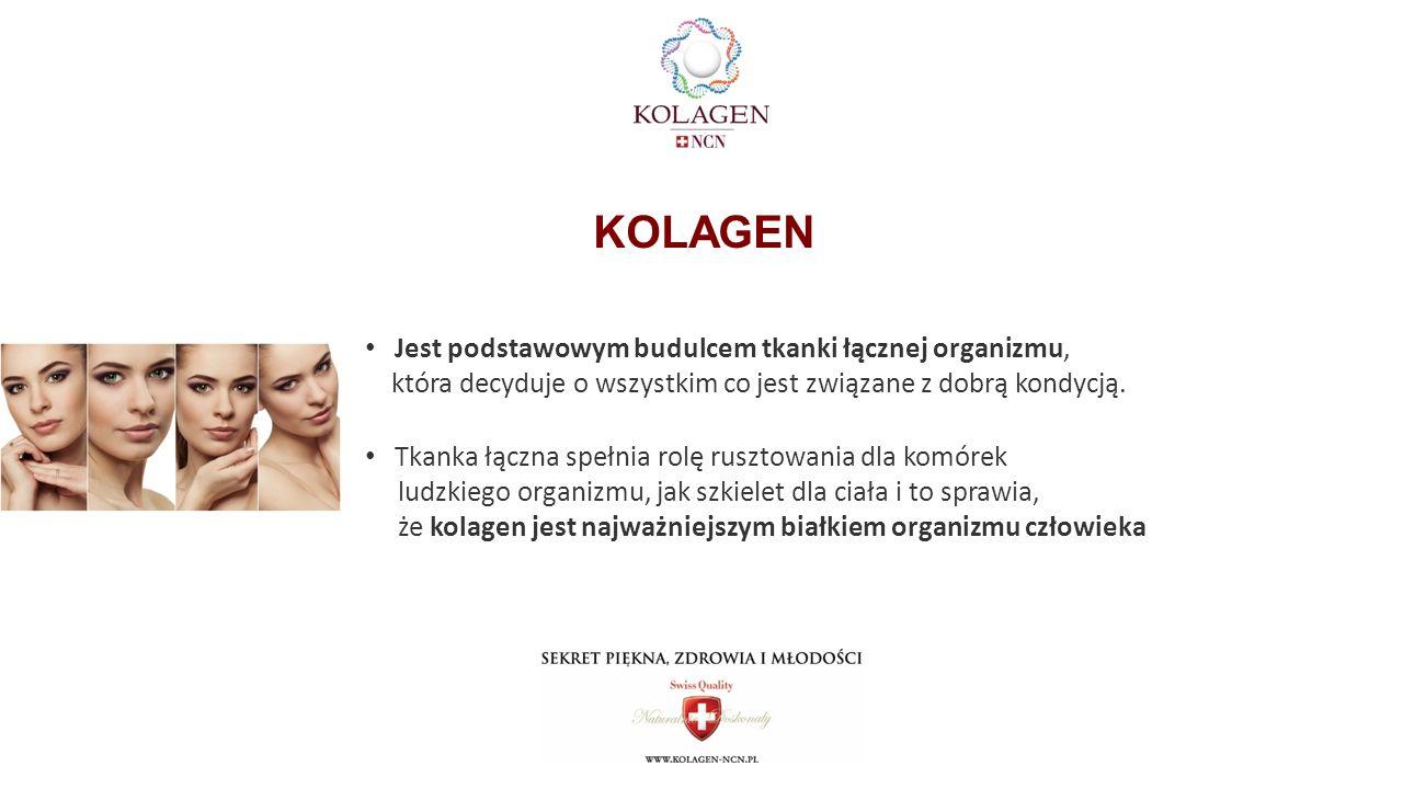 Jest podstawowym budulcem tkanki łącznej organizmu, która decyduje o wszystkim co jest związane z dobrą kondycją.