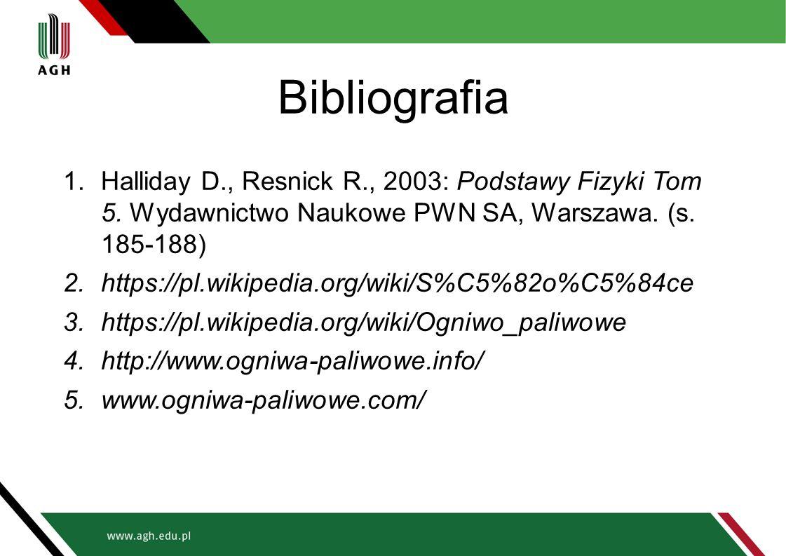Bibliografia 1.Halliday D., Resnick R., 2003: Podstawy Fizyki Tom 5. Wydawnictwo Naukowe PWN SA, Warszawa. (s. 185-188) 2.https://pl.wikipedia.org/wik