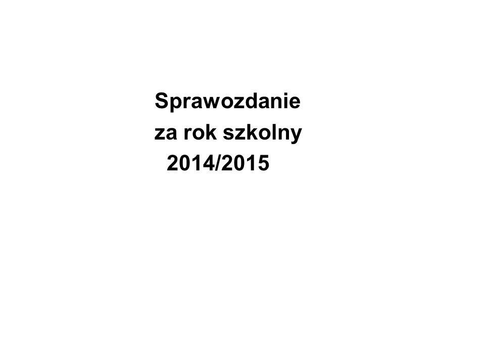Sprawozdanie za rok szkolny 2014/2015