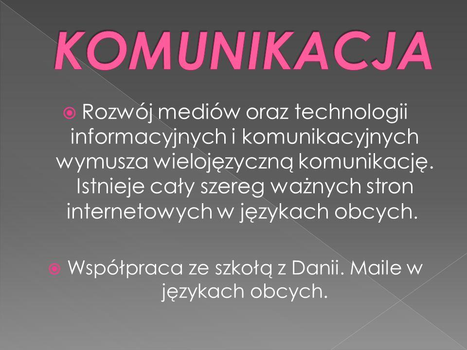  Rozwój mediów oraz technologii informacyjnych i komunikacyjnych wymusza wielojęzyczną komunikację.