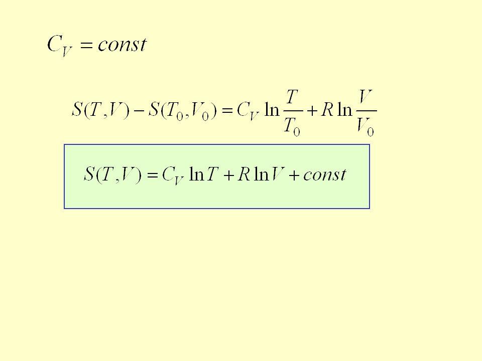 Zmiana entropii nie zależy od rodzaju procesu Jaka ilość ciepła jest pobrana przez układ podczas obu procesów.