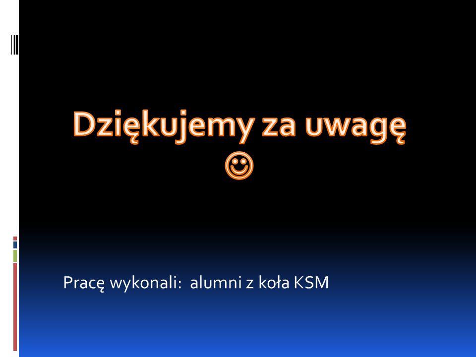 Pracę wykonali: alumni z koła KSM