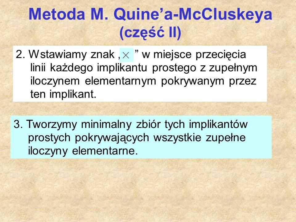 Metoda M. Quine'a-McCluskeya (część II) 2.