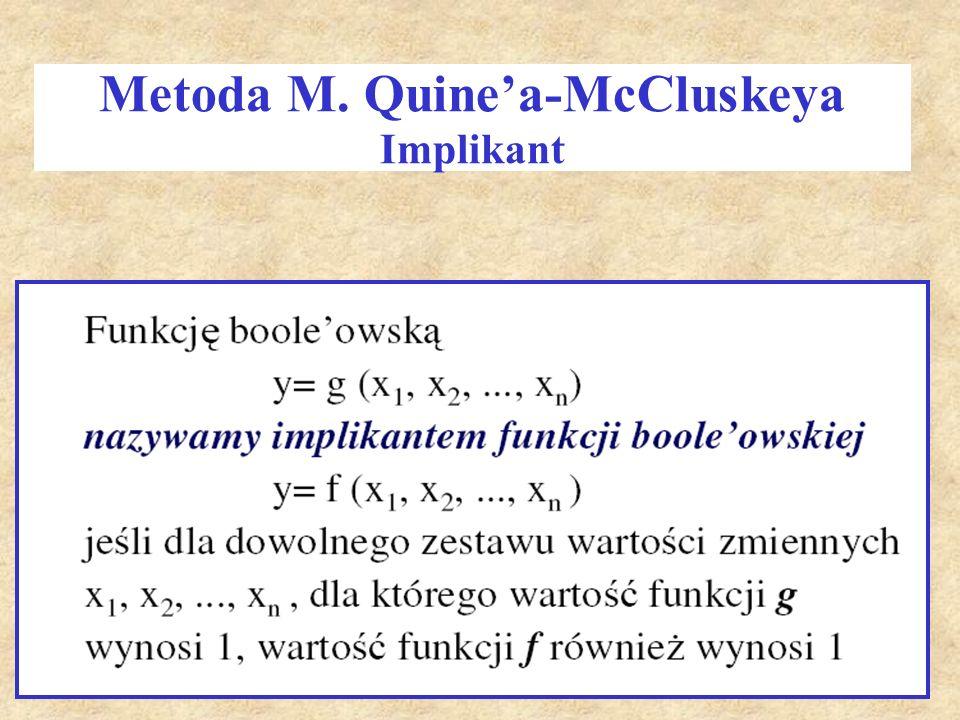 Metoda M. Quine'a-McCluskeya Implikant