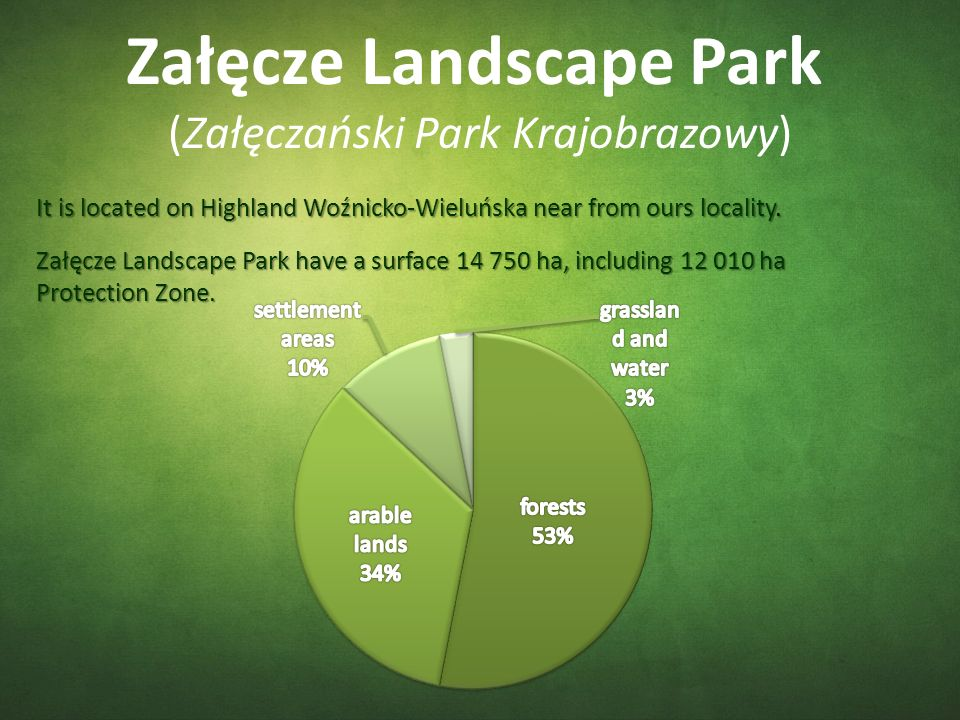 Załęcze Landscape Park (Załęczański Park Krajobrazowy) It is located on Highland Woźnicko-Wieluńska near from ours locality.