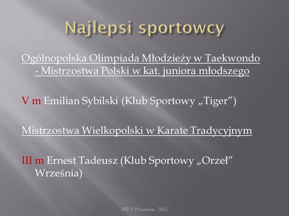 Ogólnopolska Olimpiada Młodzieży w Taekwondo - Mistrzostwa Polski w kat.