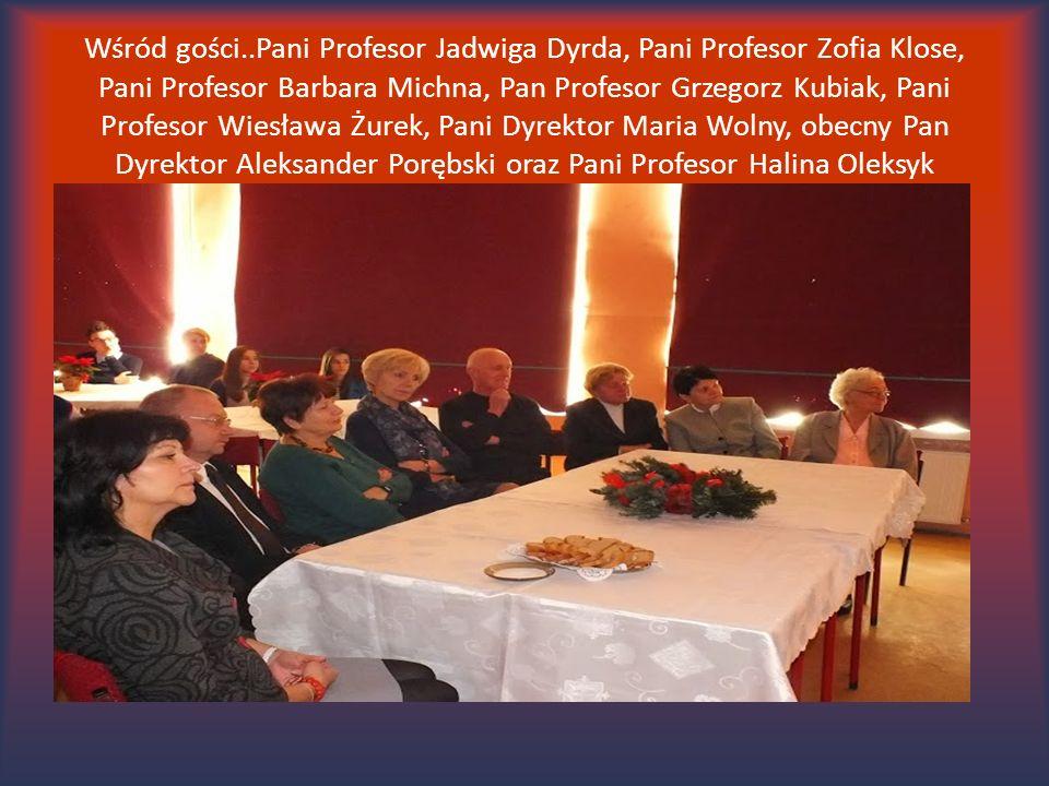 Wśród gości..Pani Profesor Jadwiga Dyrda, Pani Profesor Zofia Klose, Pani Profesor Barbara Michna, Pan Profesor Grzegorz Kubiak, Pani Profesor Wiesław
