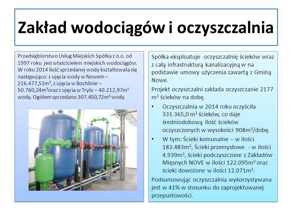 Zakład wodociągów i oczyszczalnia Przedsiębiorstwo Usług Miejskich Spółka z o.o.