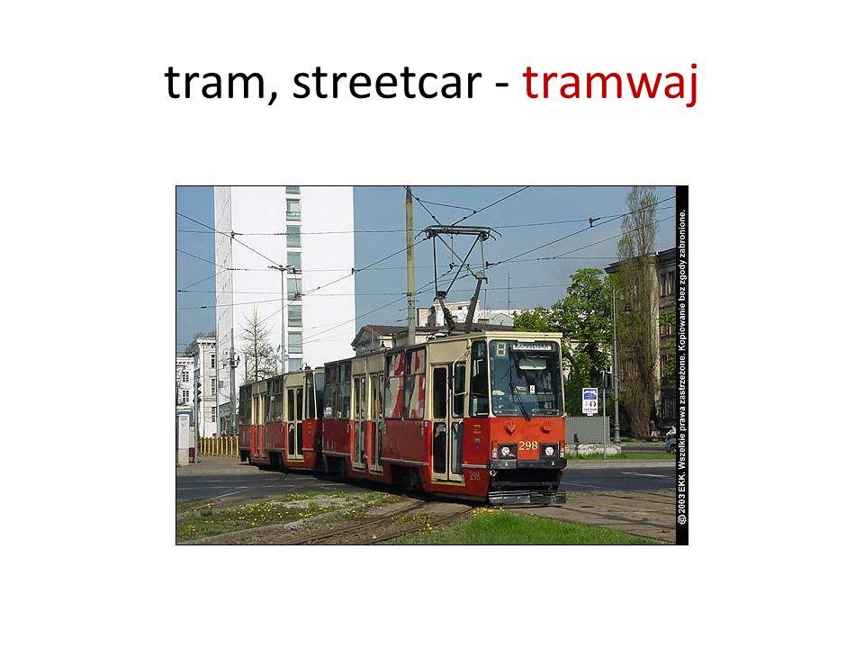 tram, streetcar - tramwaj