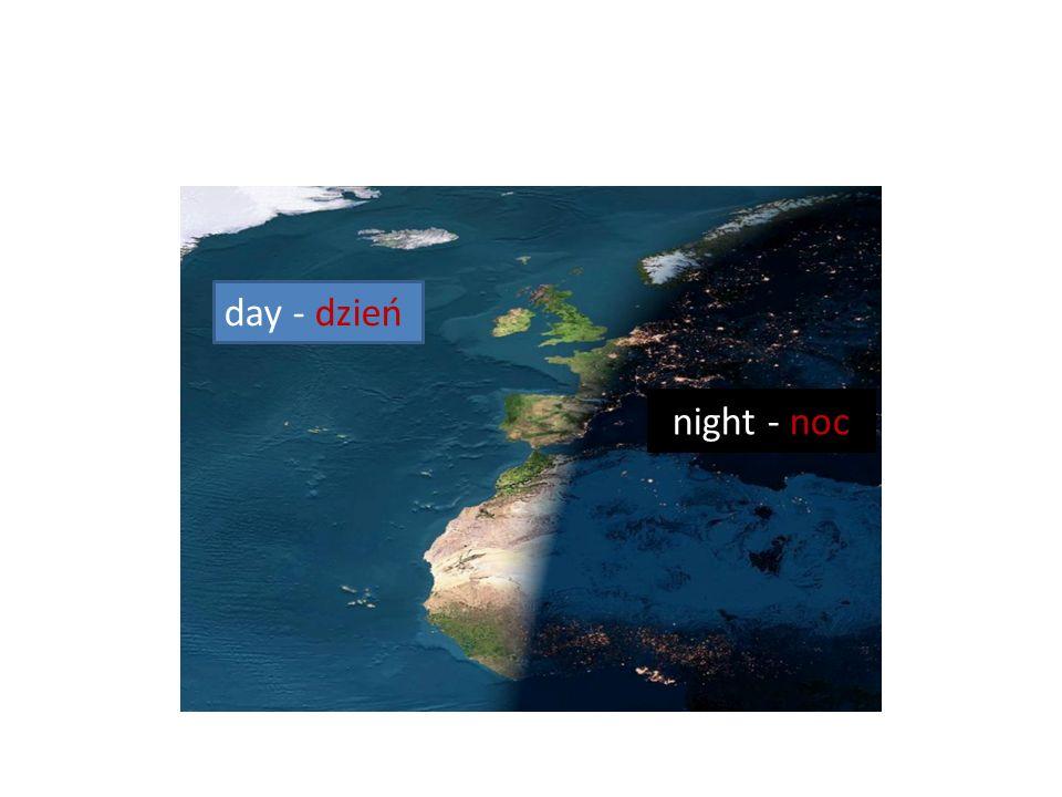 day - dzień night - noc