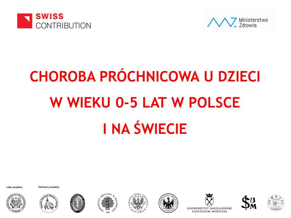 www.zebymalegodziecka.pl CHOROBA PRÓCHNICOWA U DZIECI W WIEKU 0-5 LAT W POLSCE I NA ŚWIECIE