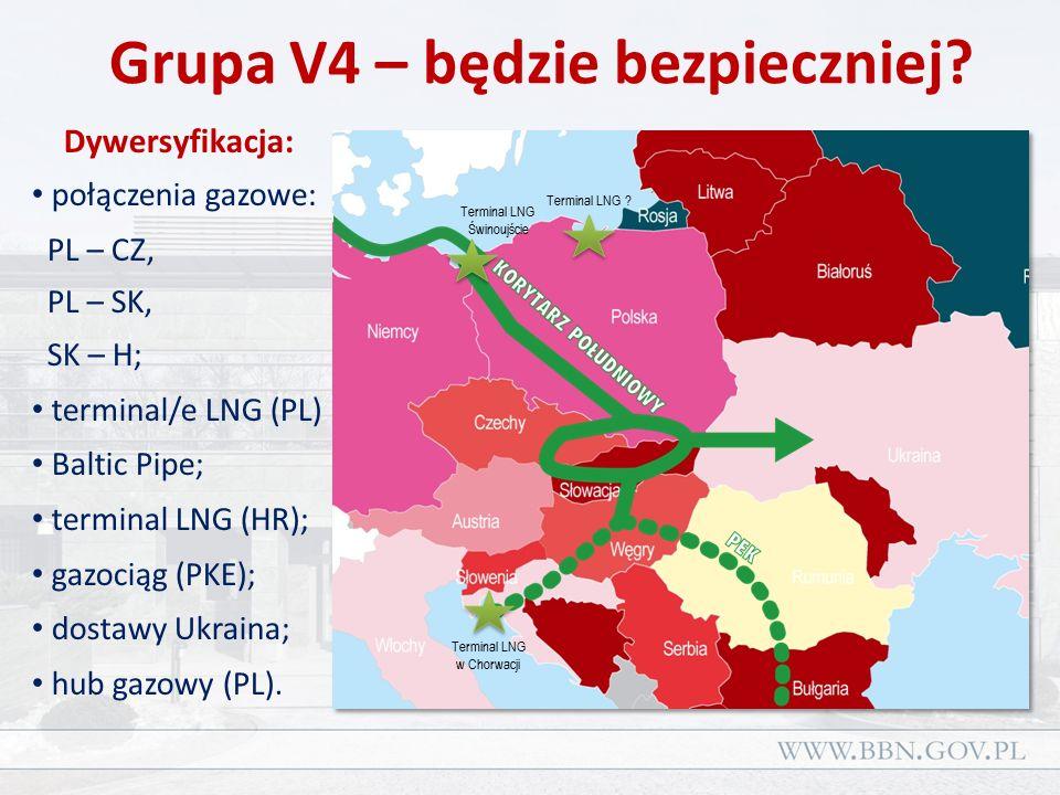 Podsumowanie Realną dywersyfikację gazu ziemnego tworzą: terminal/e LNG, gaz ze wydobywany ze złóż krajowych.