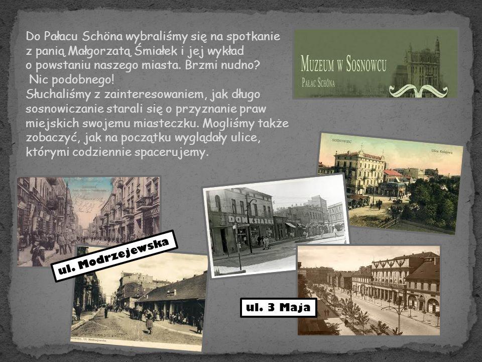 Do Pałacu Schöna wybraliśmy się na spotkanie z panią Małgorzatą Śmiałek i jej wykład o powstaniu naszego miasta.