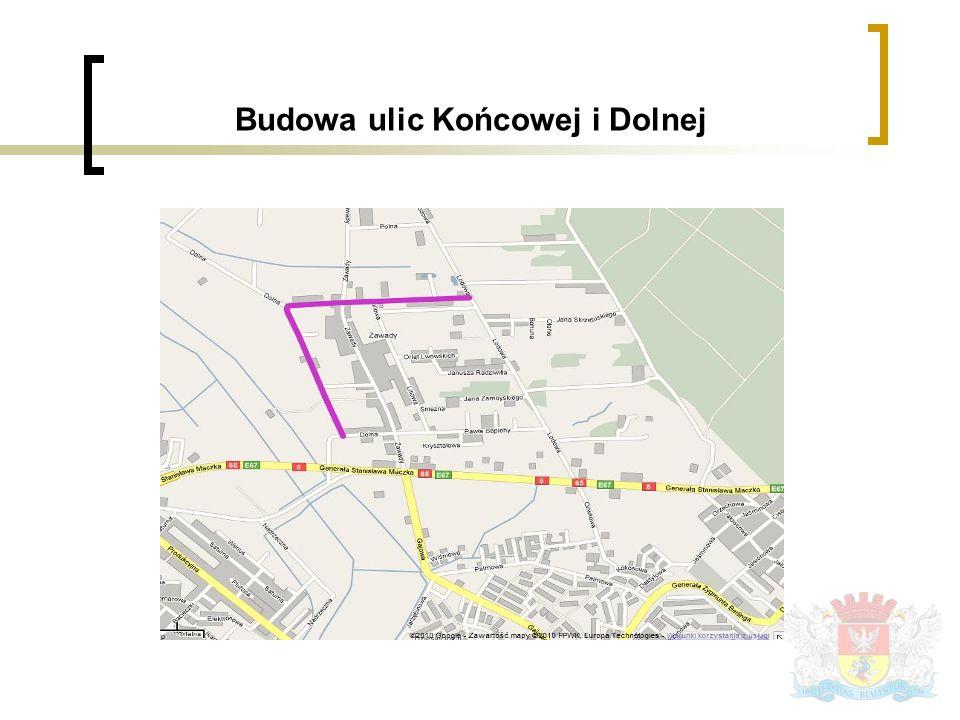 Budowa ulic Końcowej i Dolnej