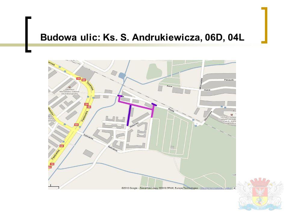 Budowa ulic: Ks. S. Andrukiewicza, 06D, 04L